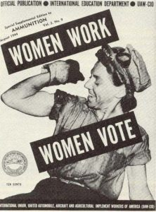 Women Work Women Vote Poster
